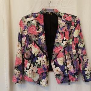 Rebecca Minkoff floral moto jacket
